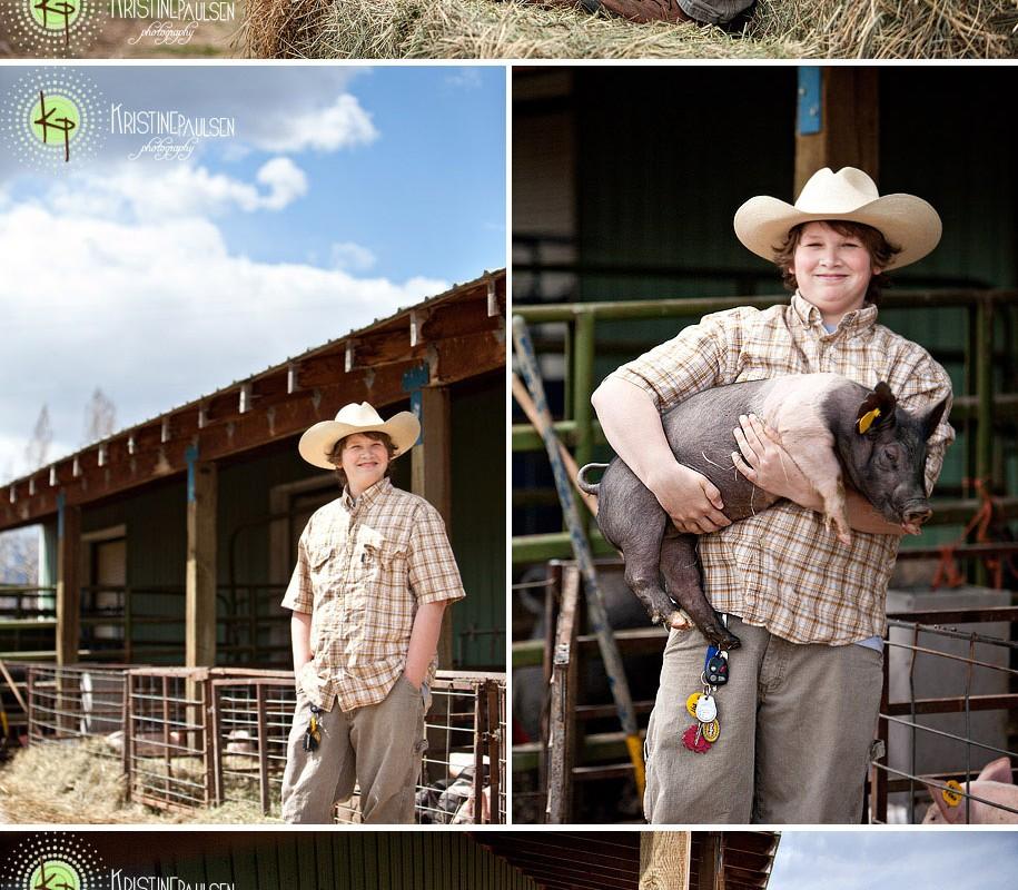 Raising Piglets – {Collin's Missoula Senior Portrait Session}