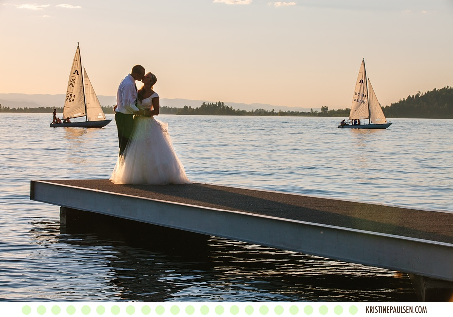 Love on the Lake – {Karen and Robb's Flathead Lake Lodge Wedding}
