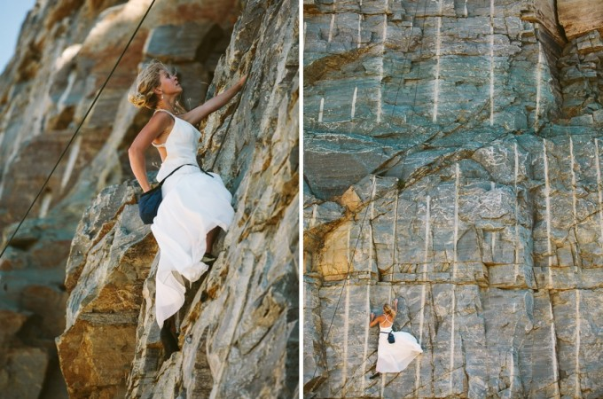 Rocking her Dress, Montana-Style - Lauren and Thad's Rock the Dress Session at Lake Koocanusa - Photos by Kristine Paulsen Photography