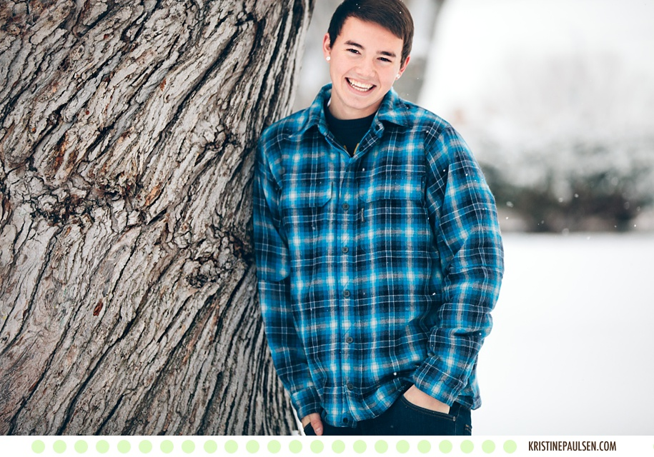 Snowflakes Keep Falling – {Caden's Class of 2014 Missoula Senior Pictures}