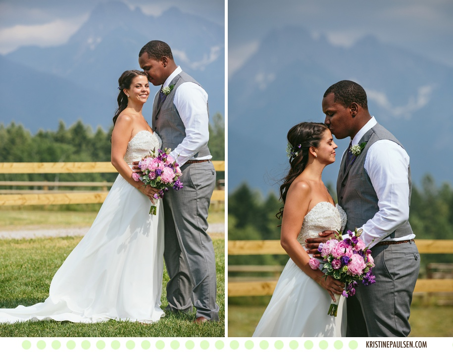 Married amongst the Mission Mountains :: {Mariah and Erryn's Sky Ridge Ranch Montana Wedding}