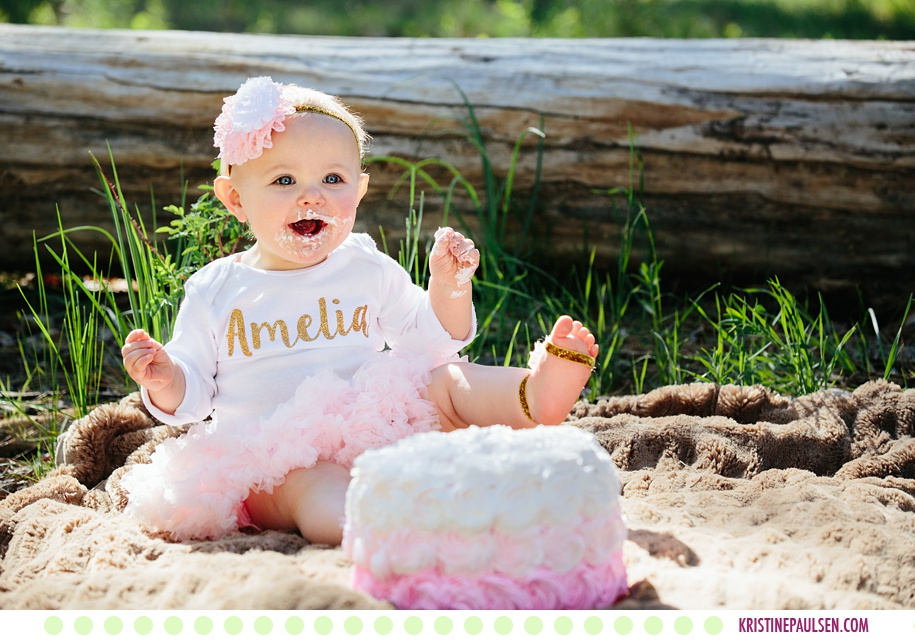Amelia and her Family :: Baby Outdoor Cake Smash and Family Photos