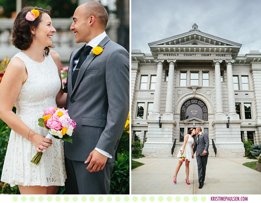 Courtney Branden Missoula Courthouse Wedding Photos By Kristine Paulsen Photography