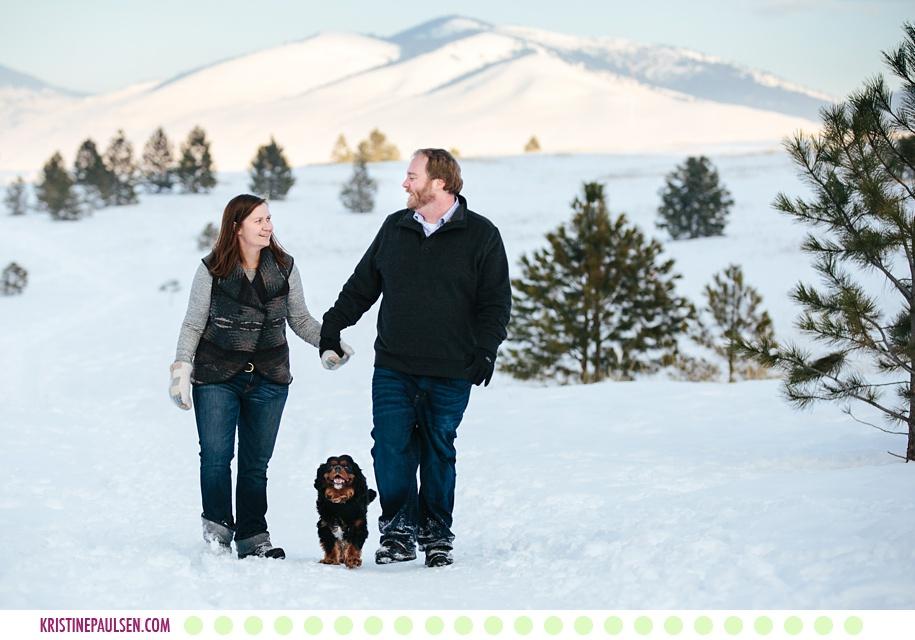 Margaret, Scott + Danforth Quayle the Dog :: Missoula Pet and Family Photos