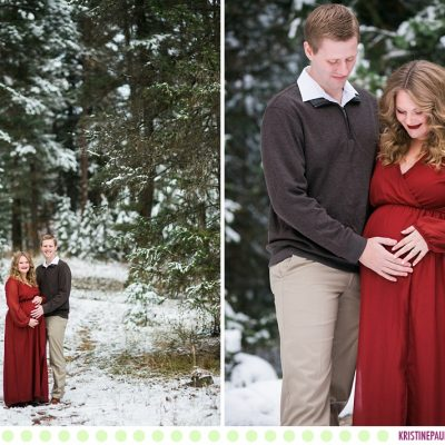 Kelci + Michael :: Wintry Missoula Maternity Photos - Photos by Kristine Paulsen Photography