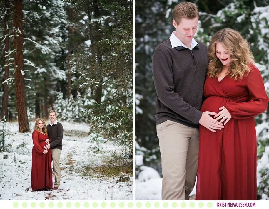 Kelci + Michael :: Wintry Missoula Maternity Photos